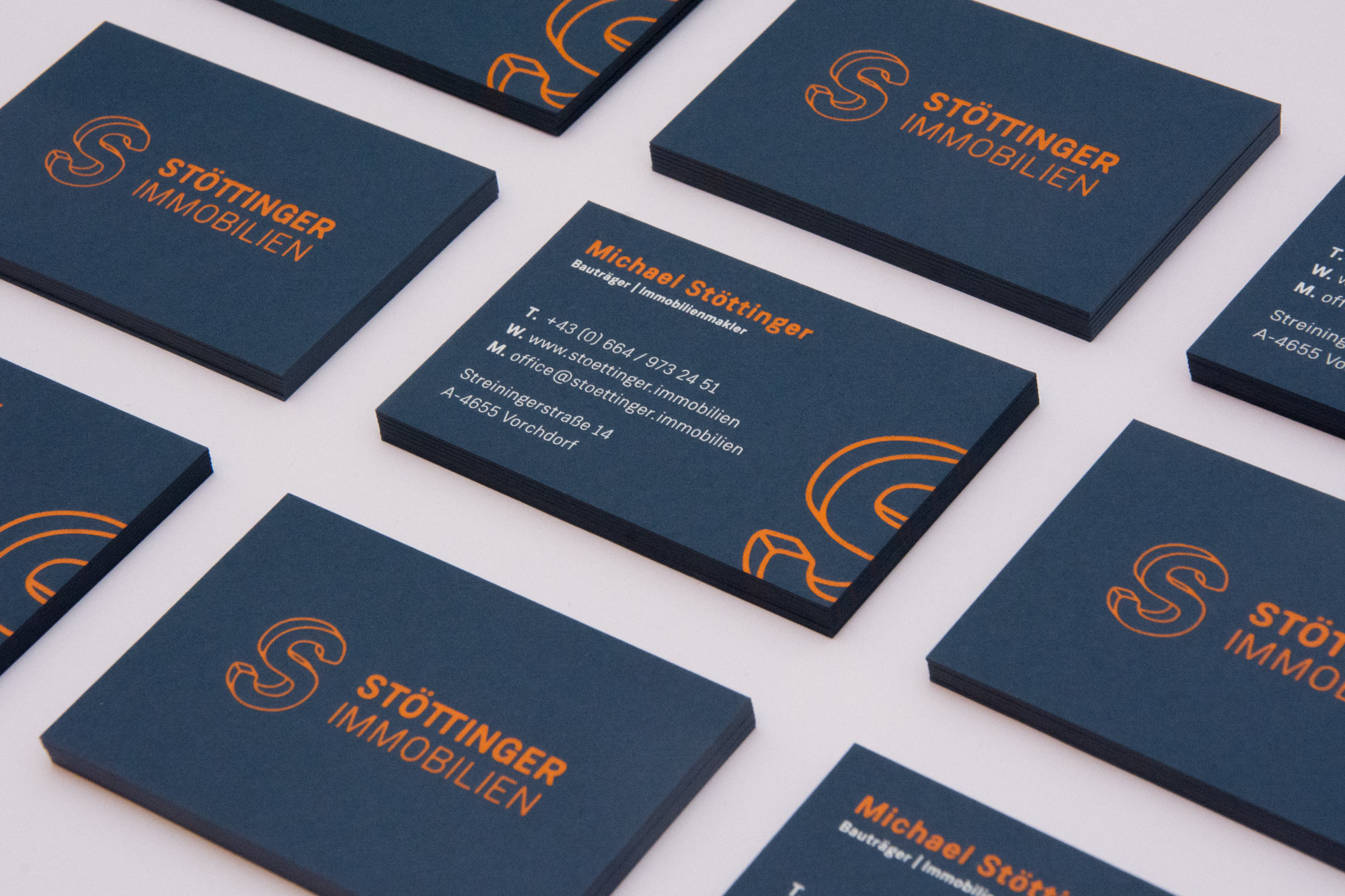 Design exklusiver Visitenkarten
