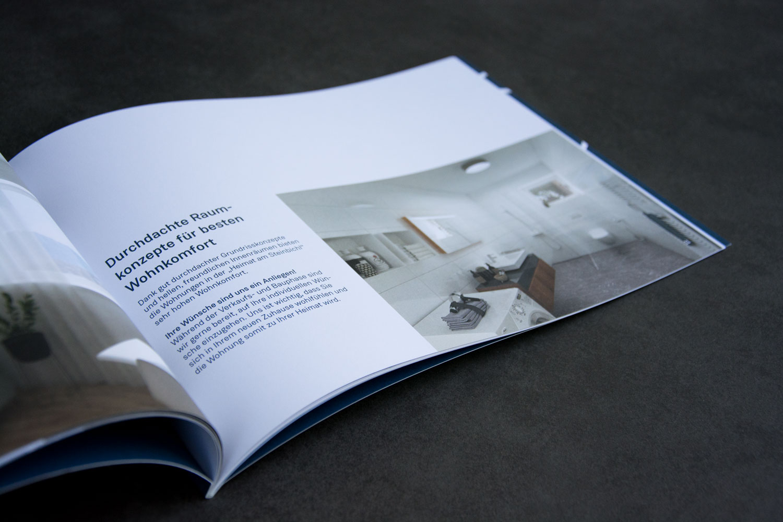 Innenseiten einer Broschüre für lokalen Immobilienmakler