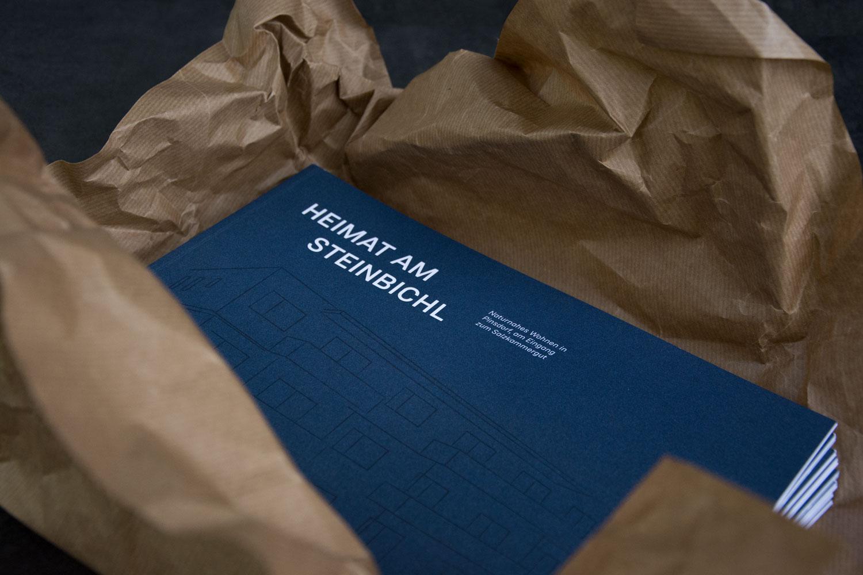 Cover einer Broschüre für lokalen Immobilienmakler